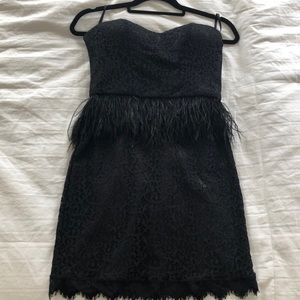 Bebe black lace cocktail dress